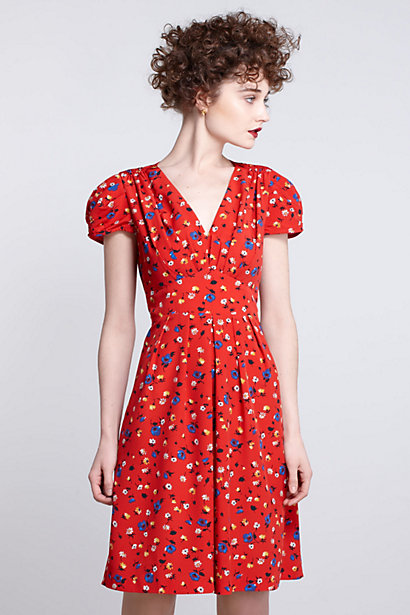 Basque Floral Dress-Basque Floral Dress