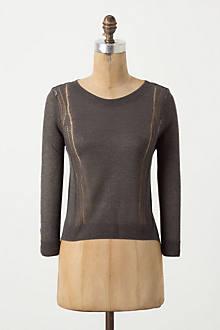Split Metallic Pullover
