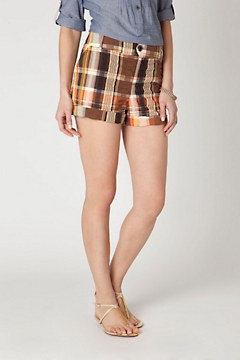 Puckered Plaid Shorts