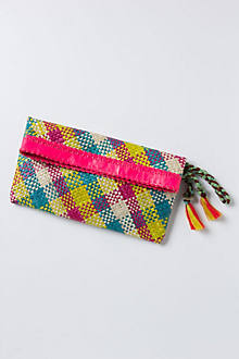Charged Gingham Clutch