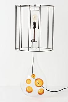 Amber Orbs Lamp
