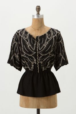 Descending Peplum Blouse