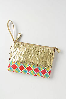 Flaked Gold Clutch