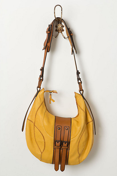Splashed Buckled Hobo - Anthropologie.com :  tan yellow bag accessories