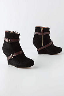 Wrapped Wedge Booties