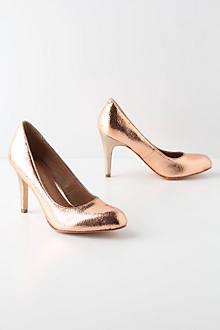 Crackled Copper Heels