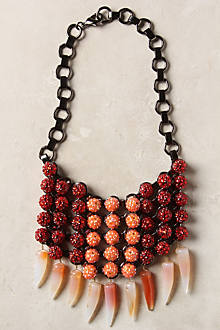 Rubis Bib Necklace, Crimson