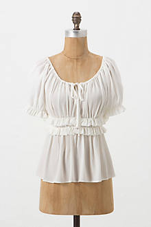 Ruched Peasant Blouse