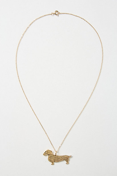 Dachshund Necklace - Anthropologie.com