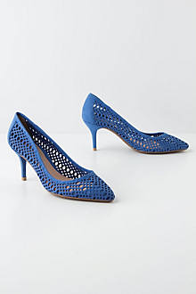 Lasercut Basketry Pumps