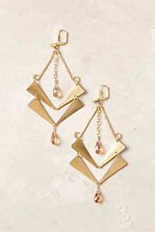Golden Guillemet Earrings