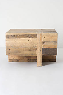 Wooden Block Side Table