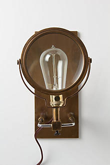 Magnifying Glass Sconce