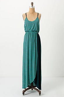 Striated Slub Maxi Dress