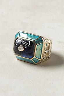 Carved Bluebell Ring