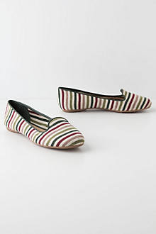 Striped Smoking Loafers
