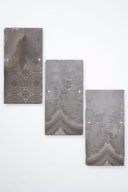 Anthropologie - Lace-Etched Slate By Jo Gibbs