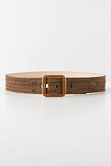 Wicker-Textured Belt