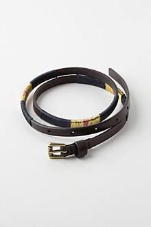 Threaded Skinny Belt