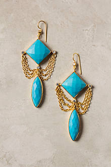 Fringed Turquoise Drops