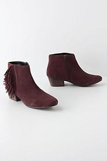 Fringe Flip Ankle Boots