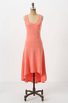 Striped Terry Midi Dress