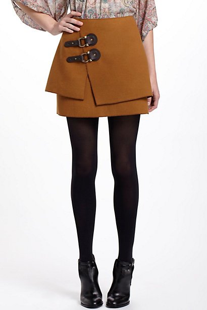Buckled Felt Skirt - Anthropologie