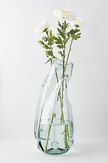 Textured Cullet Vase