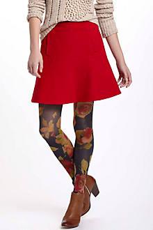 Notched Felt Skirt