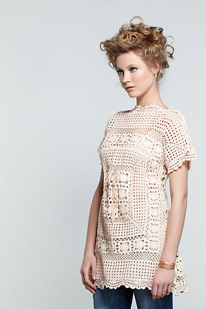 Crocheted Table Tunic-Crocheted Table Tunic