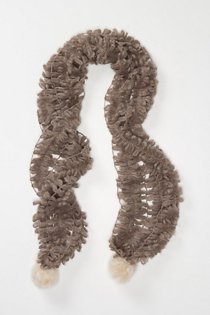Fronded Pom Scarf from anthropologie.com