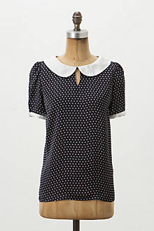 Retro Polka-Dotted Blouse
