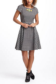 Jacquard Circle-Skirt Dress