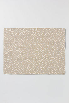 Reverse Dotted Placemat, Taupe