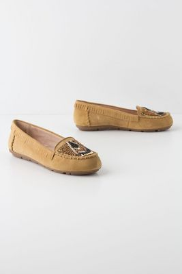 House of Harlow - Deco Beaded Moccasins