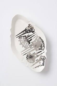 Fastened Silver Soap Dish