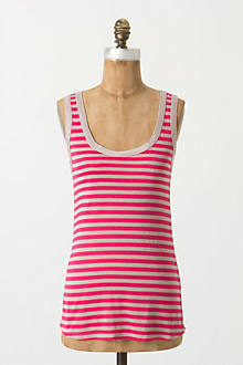 Striped Scoopneck Tank