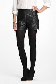 Scalloped Brocade Shorts