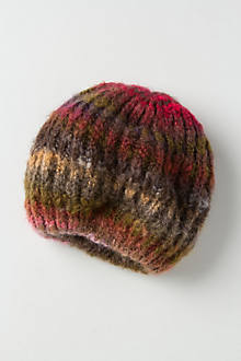 Striated Slouch Beret