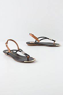 Golden Rolled Sandals