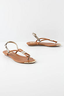 Golden Rolled Sandals