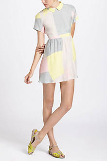 Maps Collared Mini Dress