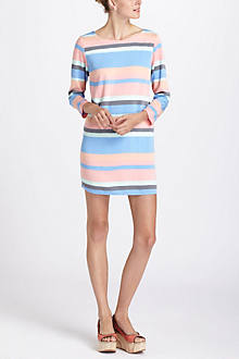 Striped Boatneck Mini Dress