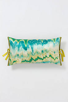 Watercolor Ikat Rectangular Pillow