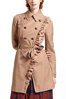 Ruffled Trench Coat