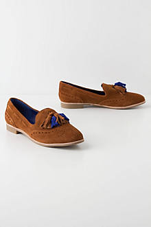 Two-Tone Tasseled Loafers
