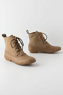 Pin-Dotted Rain Booties