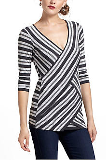 Sparked Stripes V-Neck