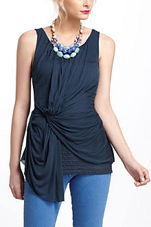 Lace-Layered Ruched Tank