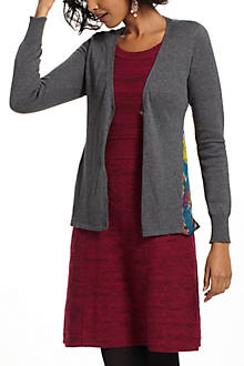 Silk-Spliced Cardigan